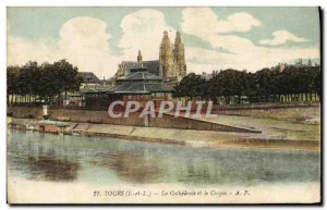 Old Postcard Tours Cathedrale and Cirque
