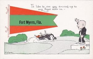 Florida Fort Myers Local Auto Pennant Series Signed Weaver