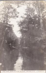 RP: On the Skeleton River , MUSKOKA , Ontario , Canada , 1920-30s