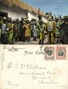 bolivia, TIAHUANACO, Feast Day, Indians with Masks (1910) Stamps