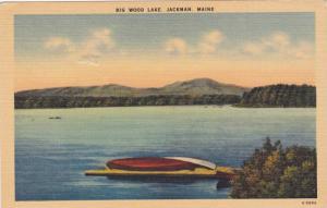 Big Wood Lake, Jackman, Maine, PU-1940