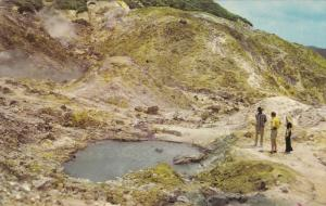 SAINT LUCIA , 50-60s : Bubbling sulphur pools at Ventine Volcano
