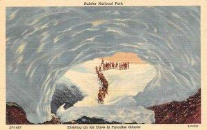 WA, Washington  PEOPLE~ICE CAVE  Paradise Glacier~Rainer National Park  Postcard