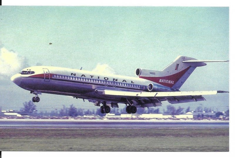 National Airlines Boeing 727 Postcard Miami-Dade Co Florida Stop18 PC118H16921
