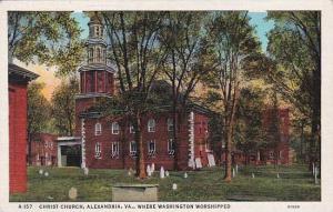 Virginia Alexandria Christ Church Where Wasginton Worshipped