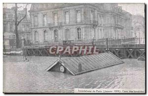 Old Postcard Paris Floods in January 1910 Flood of the Seine Gare des Invalides