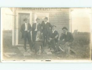 Pre-1920 rppc BRICK LAYER & PLASTERER BUILDING Postmarked Medicine Hat AB W0967