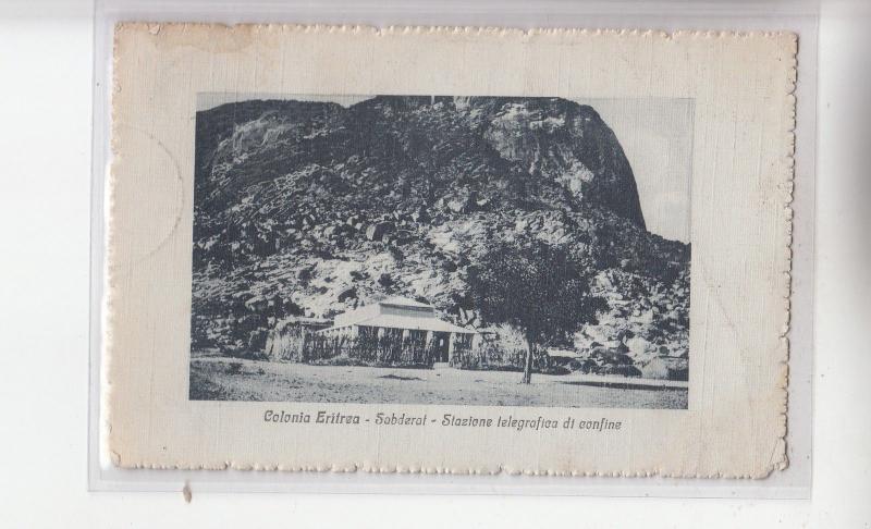 B82333 colonia eritrea sabderat stazione telegrafica di confin  front back image