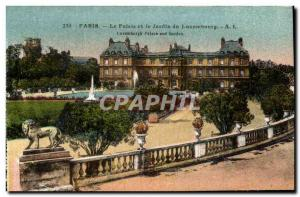 Paris Postcard Old Palace and Luxembourg Gardens