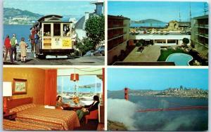 San Francisco, California Postcard TRAVELODGE AT THE WHARF Motel 1976 Cancel