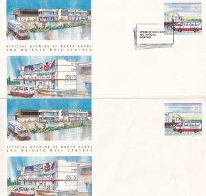Opening Of Waikato Post Offices Mail Centre s New Zealand 2x FDC Cover s