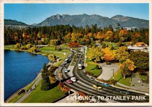Vancouver Entrance Stanley Park BC British Columbia c1982 Vintage Postcard D36