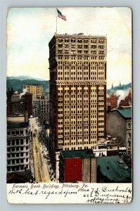 Pittsburg PA, Farmers Bank Building, Vintage Pennsylvania Postcard