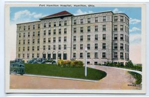 Fort Hamilton Hospital Hamilton Ohio 1920s postcard