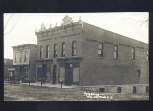 RPPC WILLIAMSTOWN NEW YORK DOWNTOWN US POST OFFICE REAL
