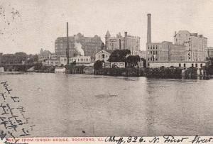 West from Girder Bridge, Rockford, Ill.1905