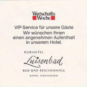 GERMANY BAD REICHENHALL KURHOTEL LUISENBAD VINTAGE LUGGAGE LABEL