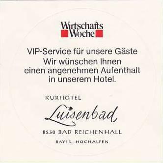 GERMANY BAD REICHENHALL KURHOTEL LUISENBAD VINTAGE LUGGAGE LABEL