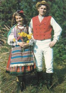 Poland Children In National Costume