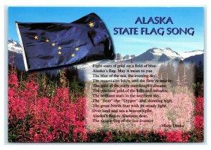 Postcard Alaska State Flag Song AK D53