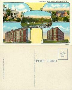 Building Scenes, University of North Dakota, Grand Forks, ND, Linen