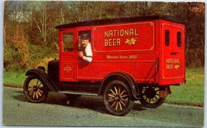 c1960s National Brewing Co. Postcard National Beer's Antique Truck Unused