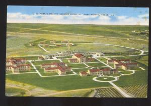 FORT WORTH TEXAS U.S. PUBLIC HEALTH SERVICE HOSPITAL VETERANS VINTAGE POSTCARD