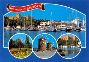 Greece Rodi Rhodes Harbour Boats Bateaux Mills Muhle Tower