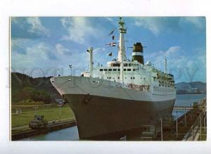 204346 PANAMA canal ship STATENDAM old postcard