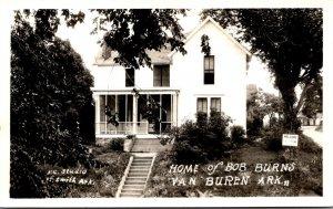 Arkansas Van Buren Home Of Bob Burns Real Photo