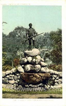 Statue of Capt. Parker Lexington MA Unused