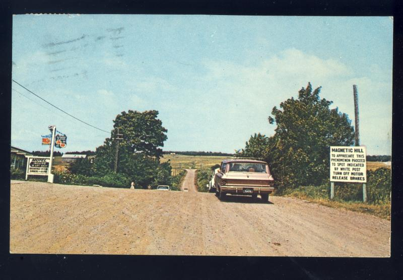 Moncton, New Brunswick/N.B., Canada Postcard, Magnetic Hill, 1964!
