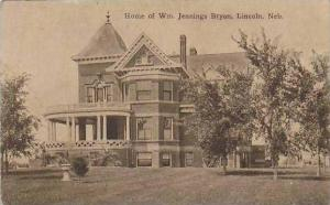 Nebraska Lincoln Home Of Wm Jennings Bryan