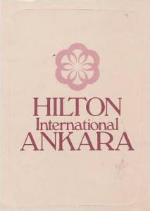 GREECE ANKARA HILTON INTERNATIONAL HOTEL VINTAGE LUGGAGE LABEL