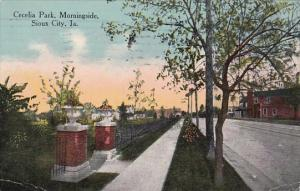 Iowa Sioux City Cecelia Park Morningside 1913