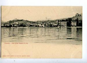 131538 Switzerland Clarens from lake view Vintage postcard