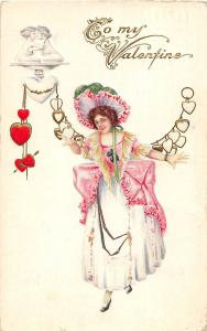<A13> VALENTINE'S DAY Love Holiday Postcard Series 92 A Fort Wayne In 1916 19