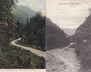 Otira Gorge Westland New Zealand 2x Old Postcard s