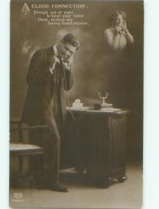 Old rppc MAN - MEN - MALE Possible Gay Interest Postcard AB1744