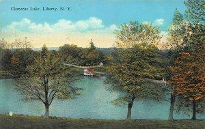 Clements Lake, Liberty, N.Y., Early Postcard, Unused