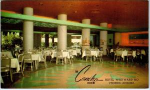 SCOTTSDALE, AZ Arizona   The CONCHO ROOM   Hotel Westward Ho  1955   Postcard