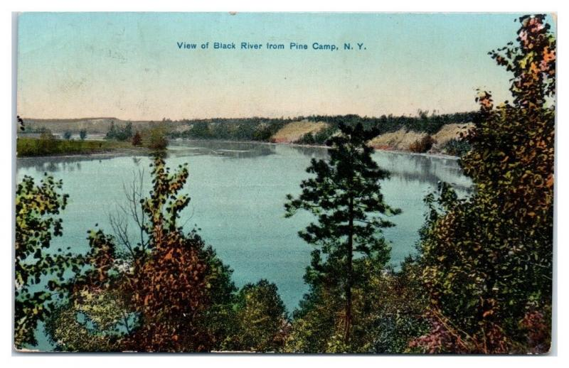 1910s Black River from Pine Camp, NY Postcard