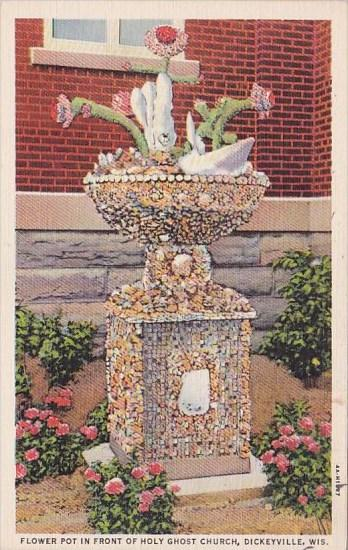 Wisconsin Dickeyville Flower Pot In Front Of Holy Ghost Church