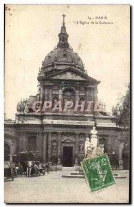 Paris - 5 - Church of the Sorbonne - Old Postcard