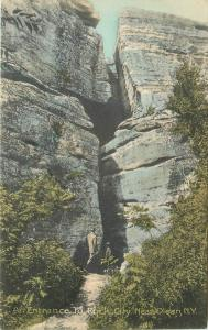 Entrance Rock City Olean New York 1908 Postcard hand colored 12602