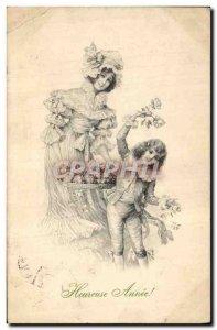 Old Postcard Fantasy Illustrator Woman Kids