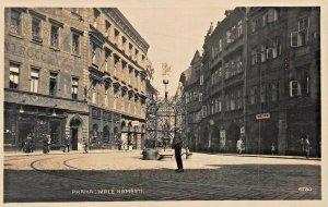 PRAHA PRAGUE CZECH REPUBLIC~MALE NAMESTI~1910s PHOTO POSTCARD