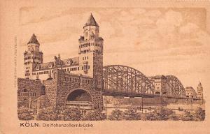 Koln Germany Die Hohenzollernbrucke Koln Die Hohenzollernbrucke
