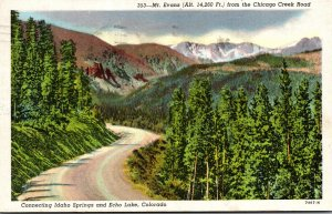 Colorado Mount Evans From The Chicago Creek Road 1948