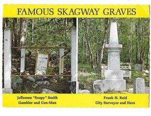Famous Skagway Alaska Graves Frank Reid & Jefferson Soapy Smith 4 by 6